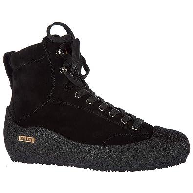 27874084225a67 BALLY Wildleder Stiefeletten Boots Herren ellon fur Schwarz EU 40 6198554
