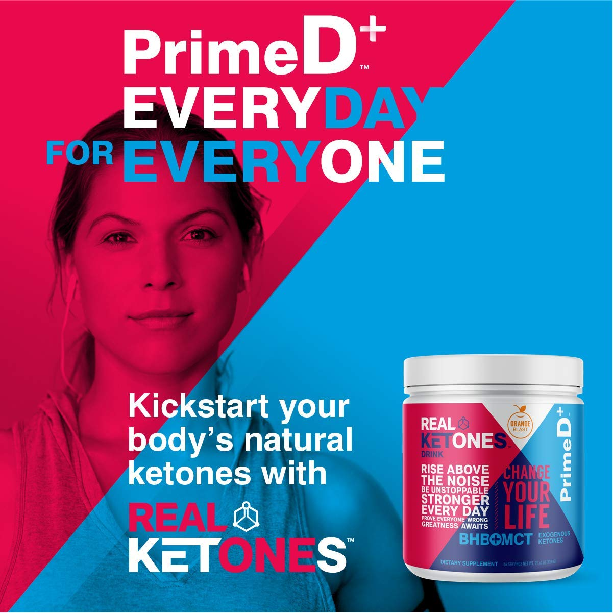 Real Ketones Prime D+ BHB (Beta-Hydroxybuterate) and MCT Exogenous Ketone Powder Supports Ketogenic Diet, Energy Boost, Mental Clarity (Orange Blast) (56 Serving) by KEGENIX (Image #4)