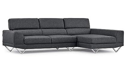 Amazon.com: Grey Trago Fabric Sectional Sofa - Right Chaise: Kitchen ...