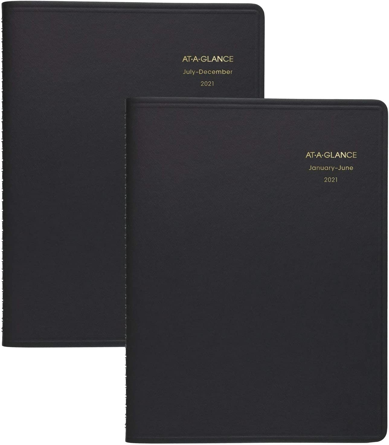 "2021 Eight Person Daily Appointment Book by AT-A-GLANCE, 8-1/2"" x 11"", Large, Black (702127121)"