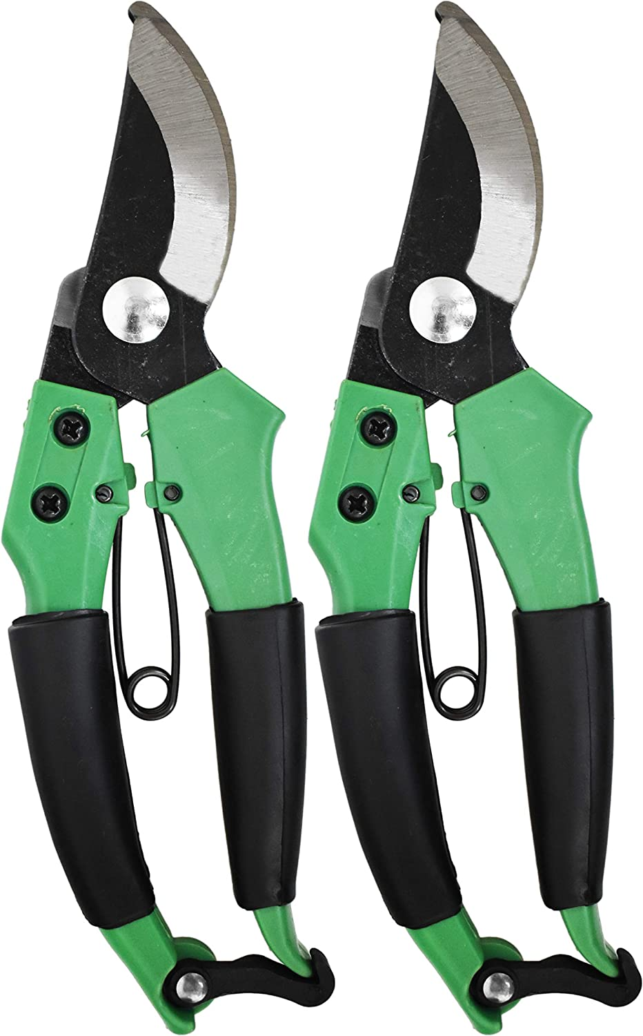 1.75 Long Blade 2 Rubber Grips on Handles Ergonomic Garden Clippers Cushioning Rubber Grips on Scissor Handles 2 7.5 Pruning Shears Set of