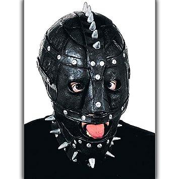 Amakando Bondage Mask with Studs | Halloween Maniac Latex Mask | Bdsm Mask  | Halloween Mask with Latex: Amazon.co.uk: Toys & Games