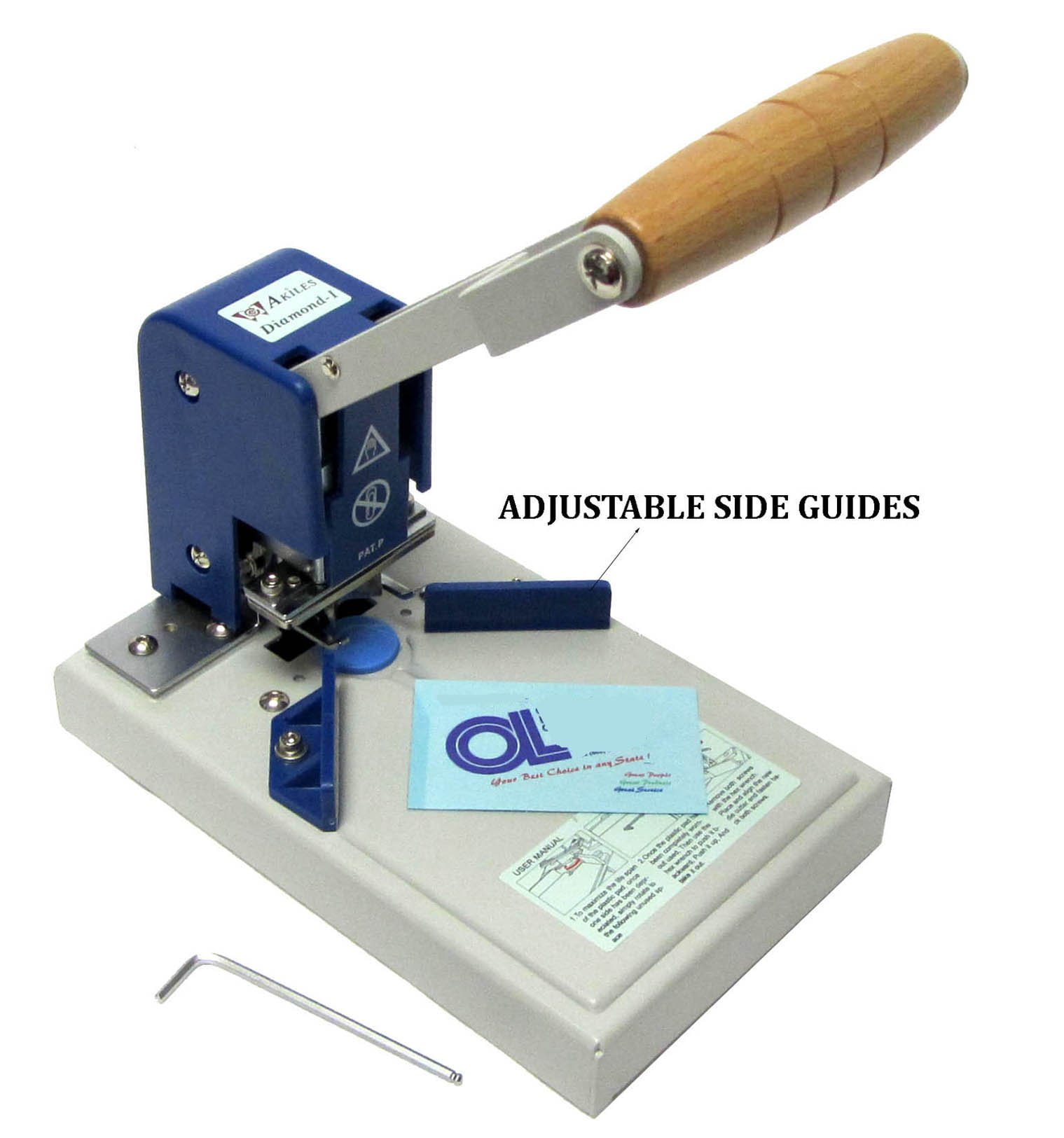 """Akiles Diamond-1 Corner Rounding Equipment, 0.4″ Maximum Capacity, Carefully crafted with only the highest quality component, Waste Backset, Plastic Pads, Radius Alignment Guide, """"L"""" Guide"""