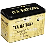 New English Teas Memorabilia Range Tea Rations Tin 80 g (Pack of 1, Total 40 Teabags)