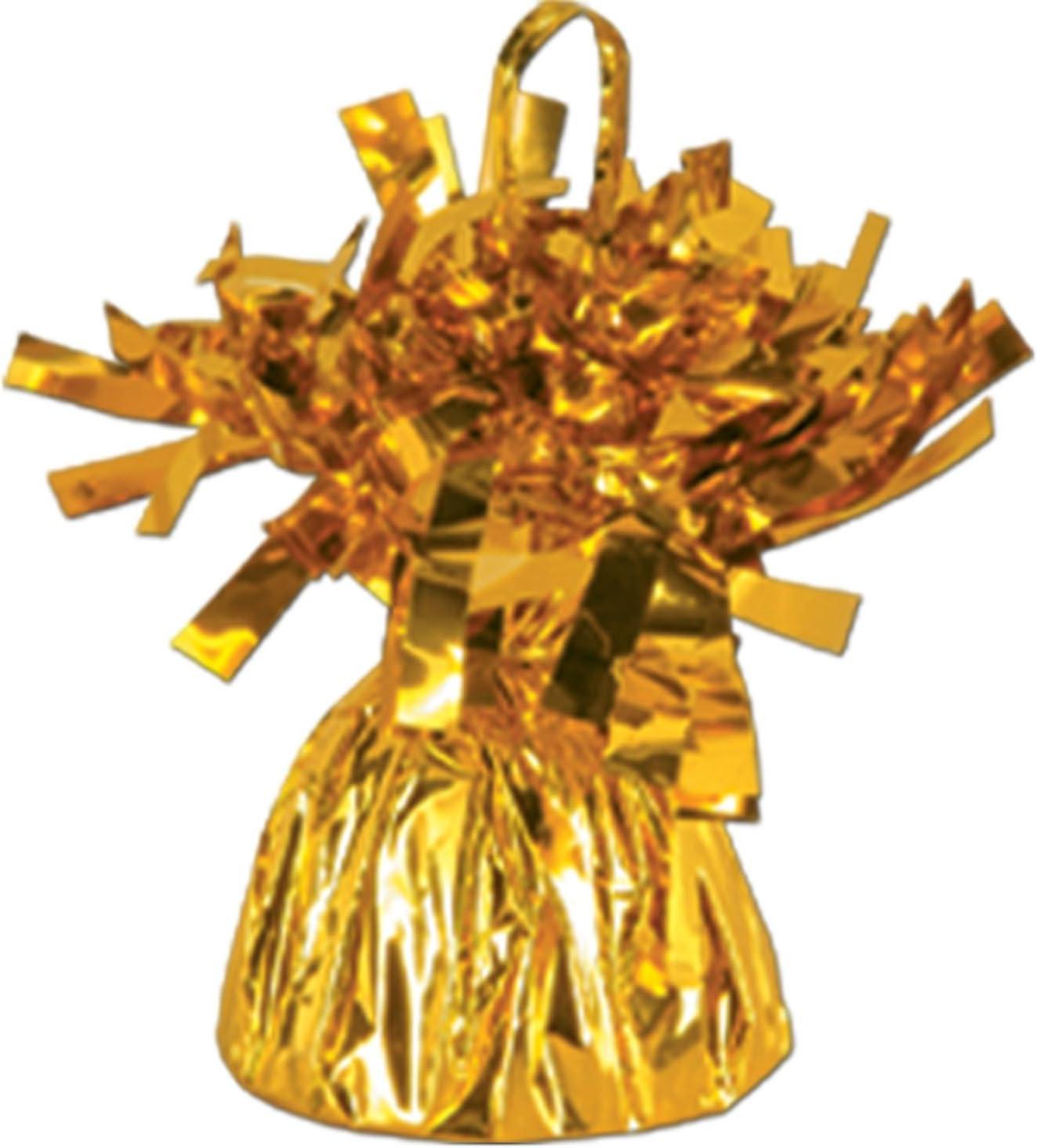 Gold Metallic Balloon Weight 6oz 6 Per Pack Forum Novelties 50804-GD