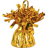 Gold Metallic Balloon Weight, 6oz 6 Per Pack
