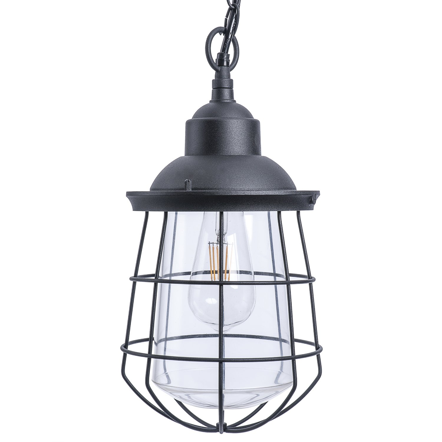 Paradise by Sterno Home Outdoor LED Metal Pendant Light, 120V, 540 Lumens, 6 Watts by Sterno Home