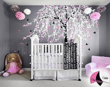 Amazon.com: Large willow tree wall decal nursery tree wall sticker ...