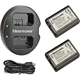Newmowa NP-FW50 互換バッテリー 2個+充電器 は NP-FW50 Alpha a6000 a6300 Alpha 7 a7 7R a7R 7S a7S