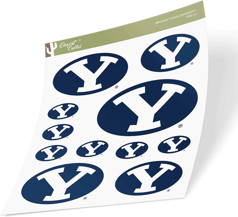 Brigham Young University BYU Cougars NCAA Sticker Vinyl Decal Laptop Water Bottle Car Scrapbook Sheet Type 3-1