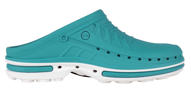 Clog - Chaussure professionnelle WOCK - Chaussure ; Stérilisable - ; Antistatique ; Antidérapante ; Absorption des chocs Blanc/Vert ff8d7e1 - boatplans.space