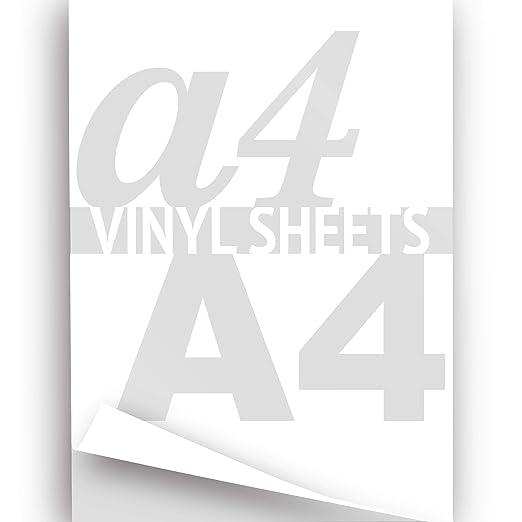 Vinilo adhesivo imprimible, tamaño de 297 x 210 mm, en hoja ...
