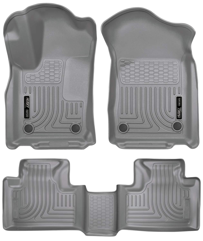 Husky Liners 99152 Grey Front & 2nd Seat Floor Liners Fits Dodge Durango, 16-19 Jeep Grand Cherokee