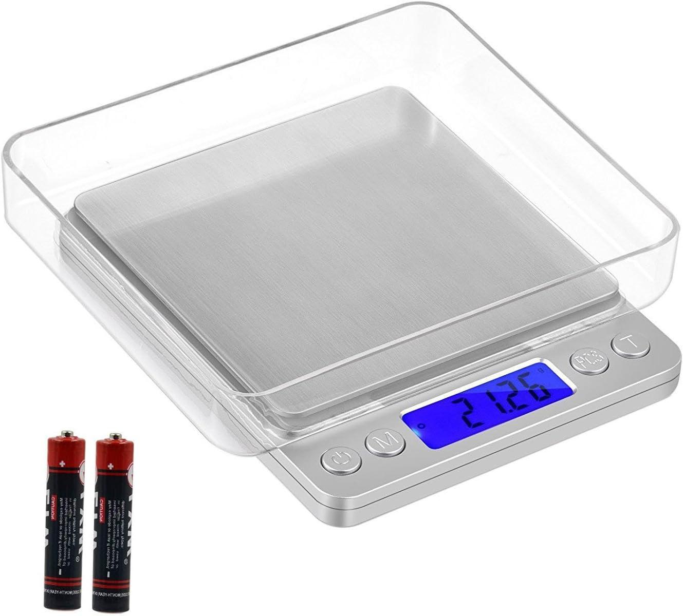 G/&G Balance digitale LS pour la cuisine ou les /échanges de monnaie Surface de pes/ée extra large 200 g x 0,01 g avec poids de calibrage
