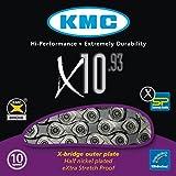 Kmc X10-93 Chaîne de vélo à 10 vitesses Argent/Gris