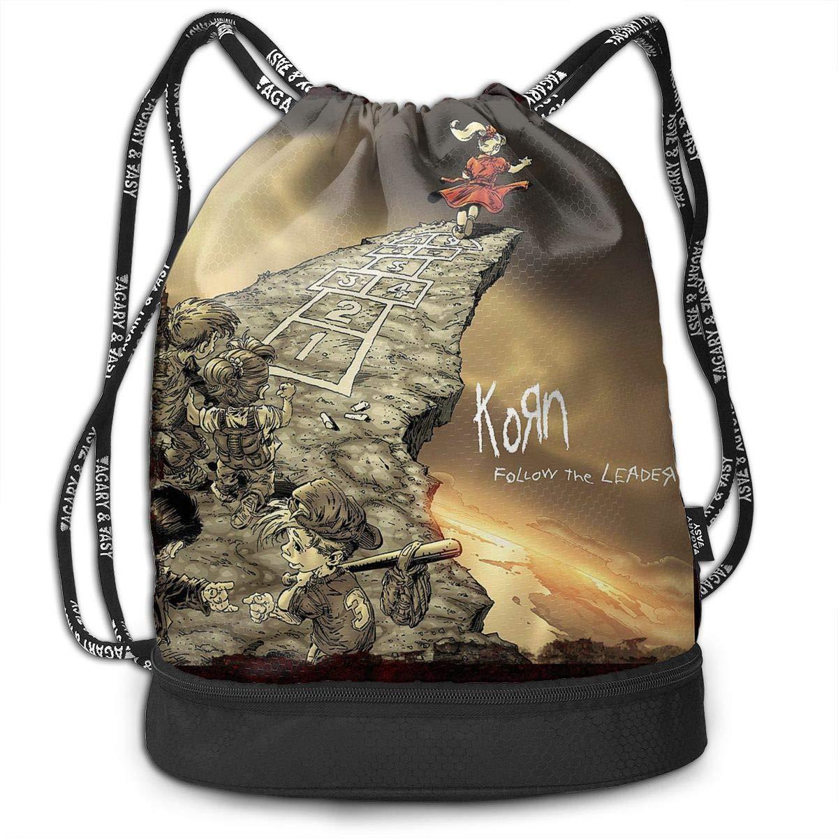 MeredithBush Korn 音楽バンドバンドバンドル バックパック キャンプバッグ メンズ/レディース キッズ用 B07NPJQND1