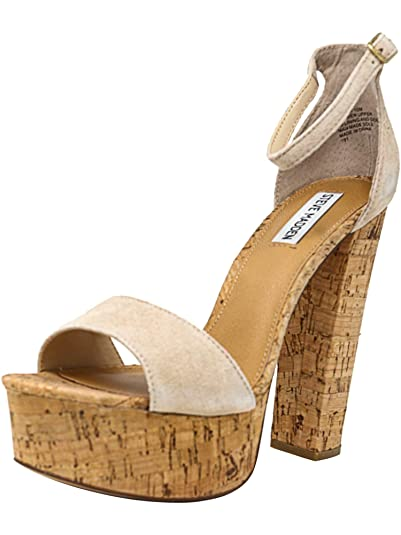 3107c8e6fbf Amazon.com | Steve Madden Women's Gonzo Suede Nude Ankle-High Pump ...