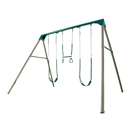 Amazon Com Lifetime 290038 Heavy Duty A Frame Metal Swing Set