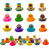 Fun Central 50 Pack - 2 inch Mini Rubber Duckies - Small Rubber Duck Bath Toys for Toddlers, Boys, Girls in Bulk - BPA…