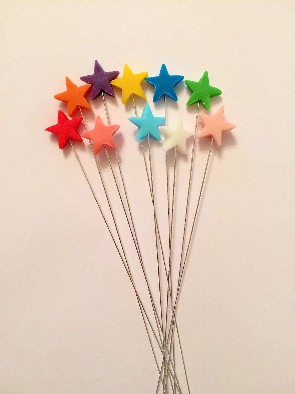 Edible multicoloured star spray cake topper decoration: Amazon.co.uk ...