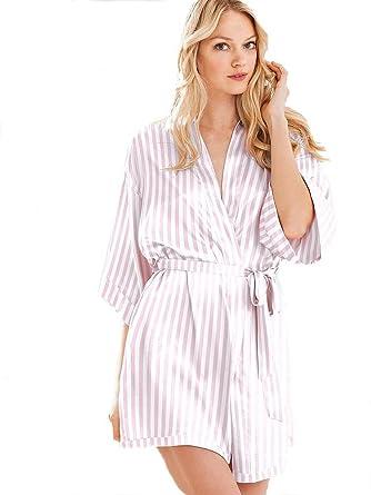 Image Unavailable. Image not available for. Color  Victoria s Secret  Women s Very Sexy Satin Kimono Robe ... 39e705983