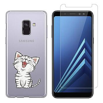 Funda Samsung Galaxy A8 2018 Gato Suave Transparente TPU ...