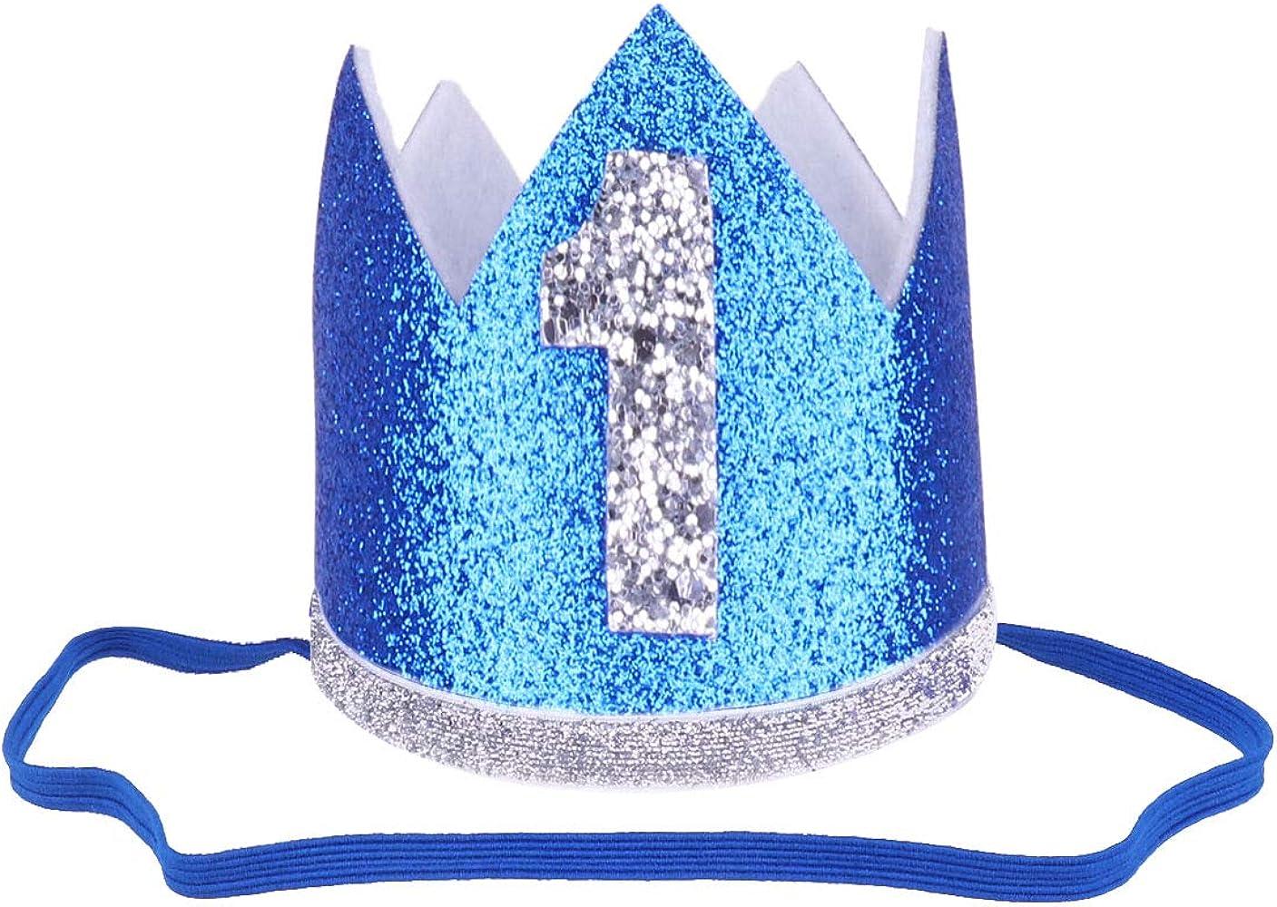 IEFIEL 1 Años 2 Años Diadema Cumpleaños Dorado Niños Niñas ...