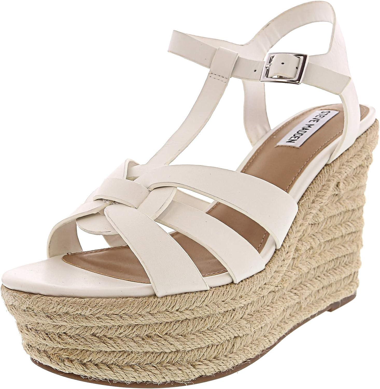 referencia Recuperar Reunión  Amazon.com | Steve Madden Womens Keesha Leather Strappy Espadrilles White  10 Medium (B, M) | Shoes