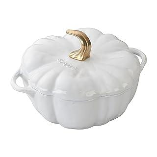 Staub 1112402 Cast Iron Pumpkin Cocotte, 3.5-quart, White