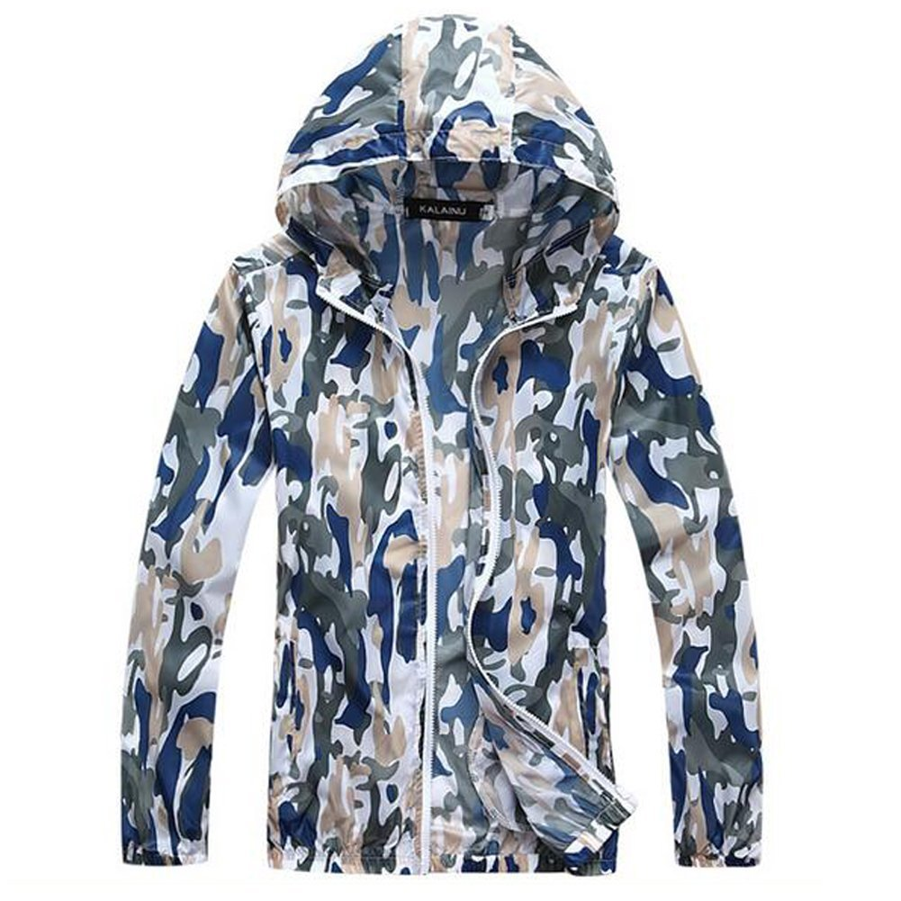 WANGQIANG Camouflage Long Sleeve UV Sun Protection Shirt Jacket Summer Coat