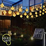 Cosumina Outdoors Globe Solar String Lights 24ft 50 LED Outdoor Bulb String Lights,Waterproof 8 Modes Solar Patio Lights…