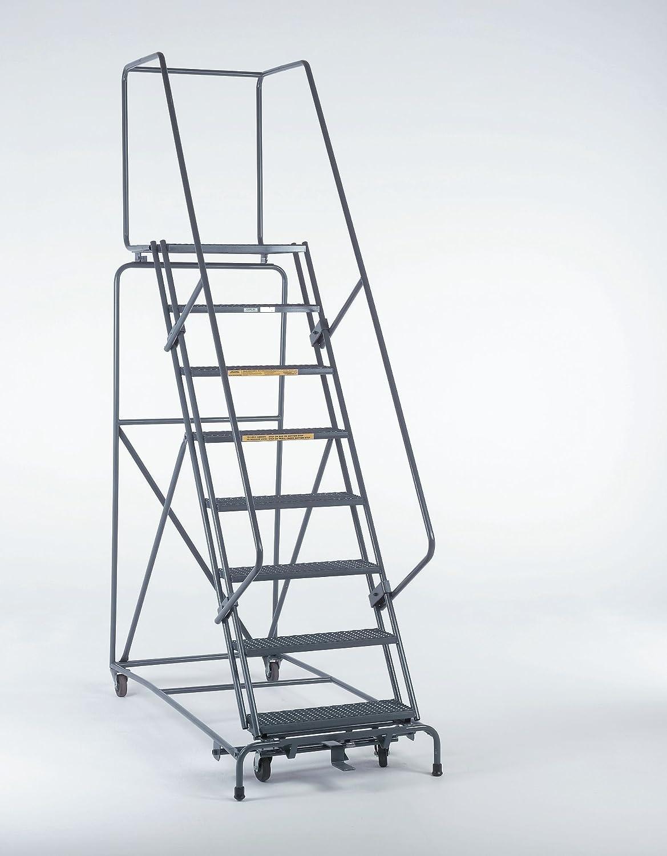 Ballymore 073214G Serie M-2000 - Escalera de seguridad enrollable con asas, rosca de rejilla serrada, sin montar, estándar OSHA/ANSI, 7 peldaños, 61 cm de ancho, 35,5 cm de profundidad superior, gris: Amazon.es: