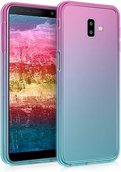 kwmobile Étui de Protection Compatible avec Samsung Galaxy J6 / J6 Plus DUOS - Coque Souple en Gel Silicone - Dégradé Transparent - Tons Pastel ...