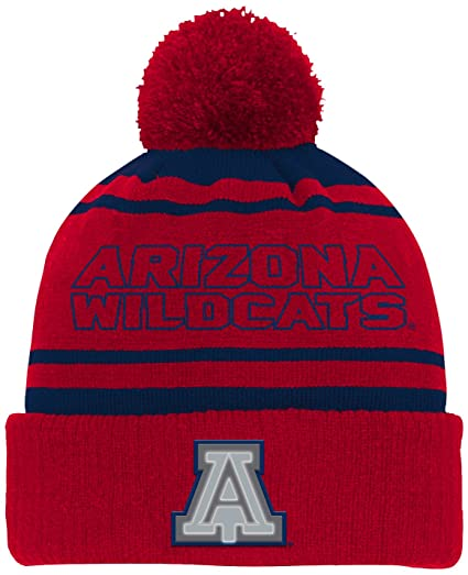 more photos 8e54c fc5bf Amazon.com   NCAA by Outerstuff NCAA Arizona Wildcats Youth Boys Reflective Cuff  Knit Hat w  Pom, Dark Navy, Youth One Size   Clothing