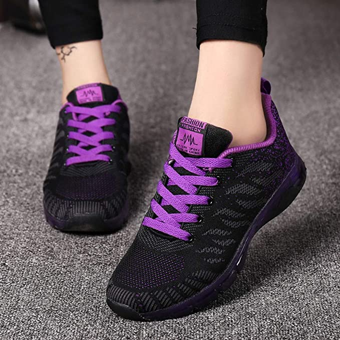 JiaMeng Flying Woven Shoes Air Cushion Sneakers Student Net Zapatos para Correr de Deportivos de Running para Mujer: Amazon.es: Ropa y accesorios