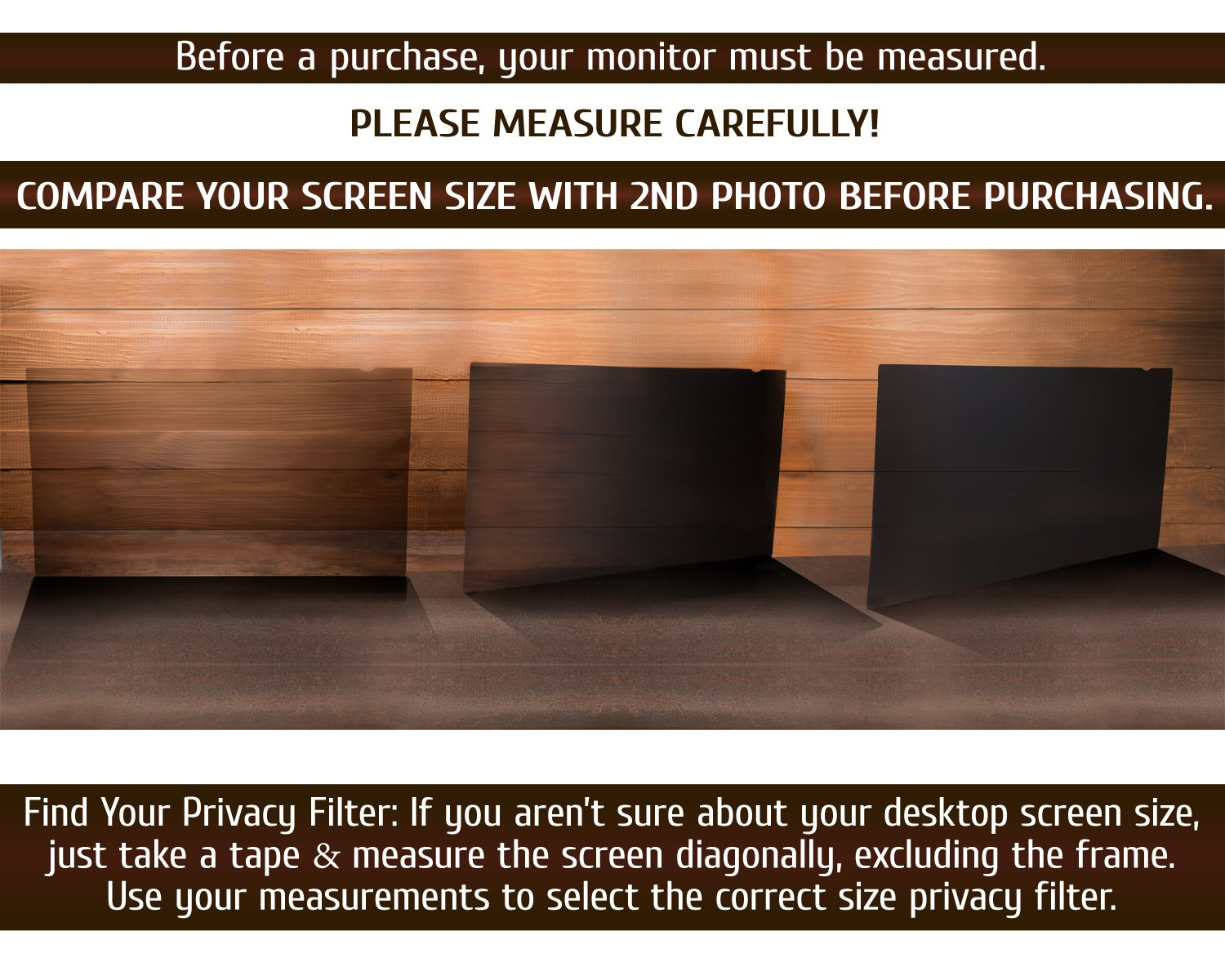 19.5 Inch Computer Privacy Screen Filter - 16:9 Aspect Ratio - for Widescreen Computer Monitor - Anti-Glare - Anti-Scratch Protector Film for Data confidentiality - Please Measure Carefully! by VINTEZ (Image #9)