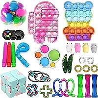 30Pcs Sensory Fidget Toy Set, Cheap Fidget Pack Toys Relieves Stress Anxiety for Kids Adults Fidget Toy Kill Time…