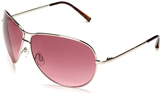 Amazon.com: Southpole Women\'s 311SP Aviator Sunglasses,Silver/Pink ...