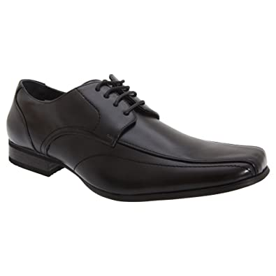 1791762950b Goor Mens Leather Lace-Up Tramline Gibson Dress Shoes