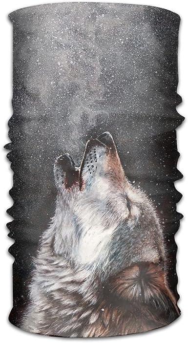Magic Headwear Howling Wolf Outdoor Scarf Headbands Bandana Mask Neck Gaiter Head Wrap Mask Sweatband