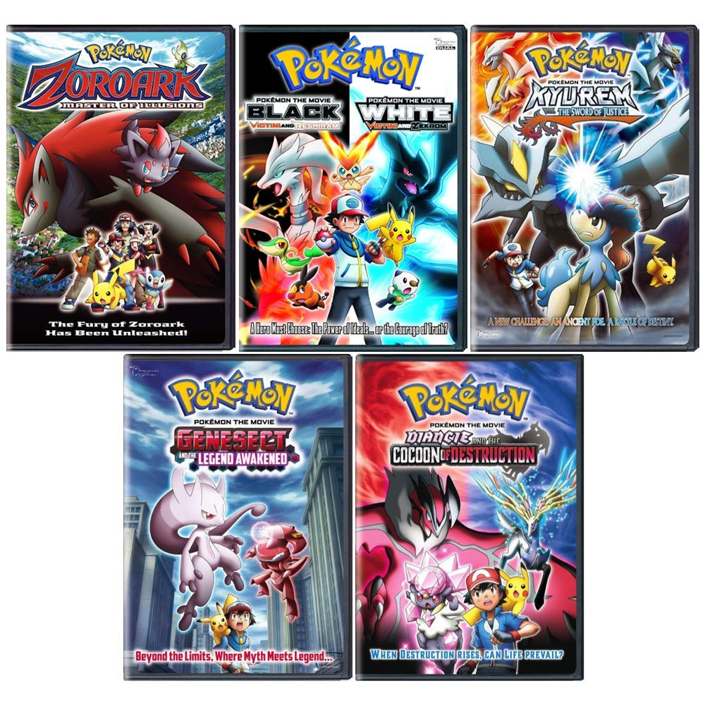 Amazon Com Pokemon Anime Film Series 6 Movie Dvd Collection Movies Tv