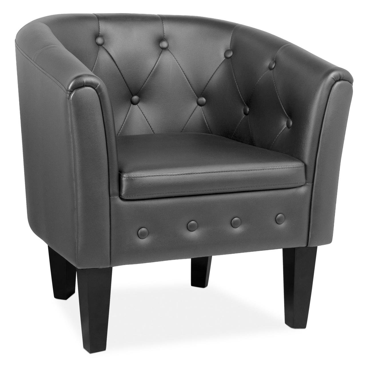 Cocktailsessel schwarz  Homelux Clubsessel Loungesessel Cocktailsessel Chesterfield (L x B ...