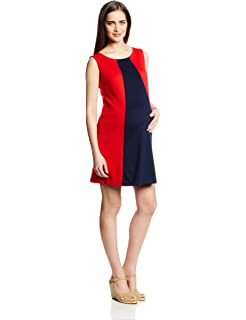159d6218537 Maternal America Women s Maternity Sleeveless Colorblocked Shift Dress