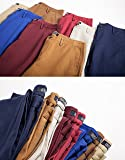 INFLATION Mens Slim Tapered Stretch Flat Front