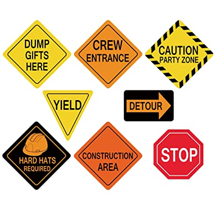 amazon com traffic signs cutouts construction birthday party