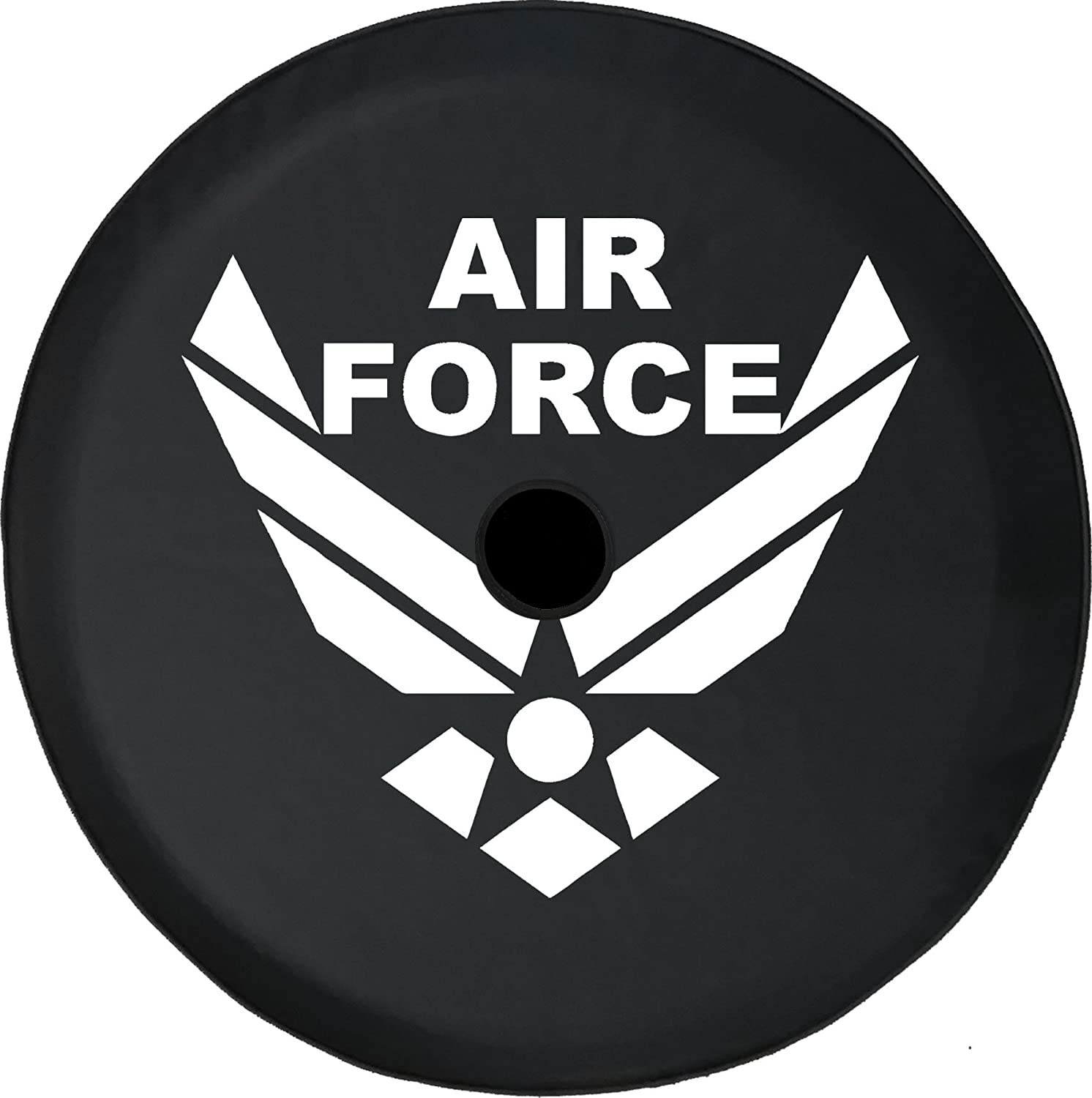 Stealth USAF Air Force Spare Tire Cover Vinyl Black 33 in