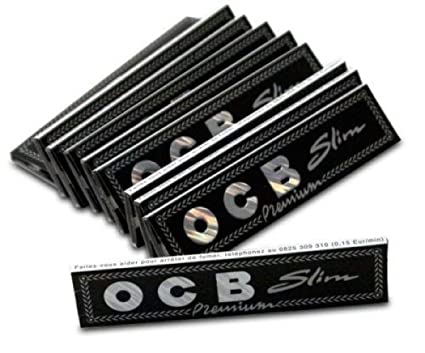 Ocb Slim Premium Rolling Paper 4,5,10, 15, 20, 25 & 50 Packs (ONE Pack Contains 32 Leaves) (5)