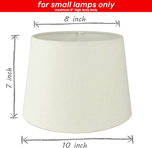 Uno Fitter Small Off White Fabric Lampshade 8 x 10 x 7 Pack of 1