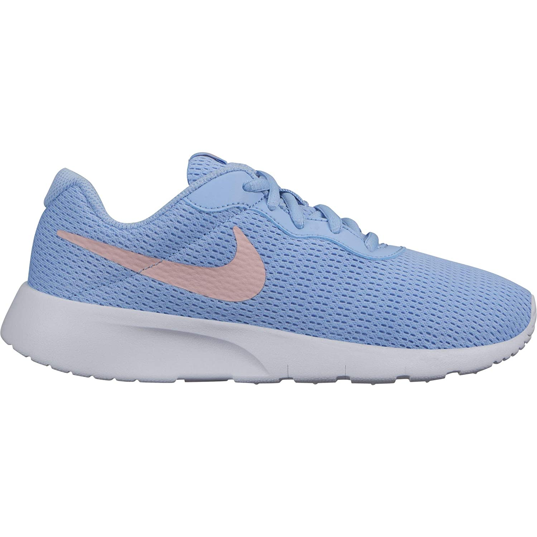 Nike Girls Tanjun Shoe 5.5 M US, Psychic Blue//Bleached Coral//White