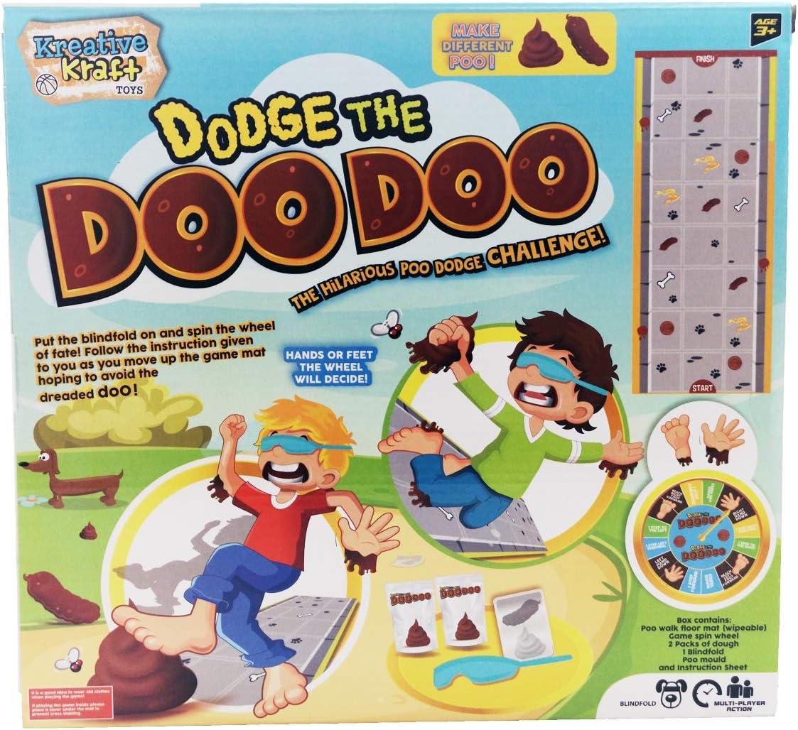 Dodge the Doo Doo Poo Game with Dog Pooh Dough Playing Mat Xmas Family Kids Fun